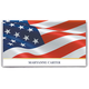 Personalized 2 Yr. Planner Patriotic Waving Flag, One Size