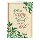 Personalized He is the Way Christmas Card Set of 20