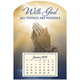 Mini Magnetic Calendar Praying Hands, One Size