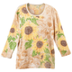 Sunflowers 3/4 Sleeve Top, One Size