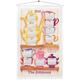 Personalized Teacups on a Shelf Calendar Towel, One Size