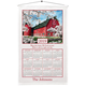Personalized Country Blossoms Calendar Towel, One Size
