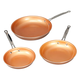Ceramic Copper Non-stick Fry Pan Set of 3, One Size