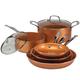 Ceramic Copper Non-stick Cookware Value Set, One Size