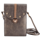 Pewter Touch Screen Crossbody Bag, One Size