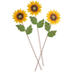 Sunflower Stakes Set of 3 by Maple Lane Creations™, One Size