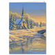Personalized Reflection of Winter's Eve Card Set of 20