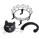 Metal Black Cat Pumpkin Holder by Maple Lane Creations™, One Size