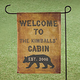 Personalized Cabin Garden Flag