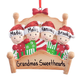 Personalized Family in Bed Ornament