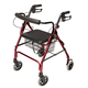 Lumex Walkabout Lite 4 Wheel Rollator, One Size