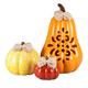 Ceramic Pumpkins, Set of 3, One Size