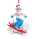 Personalized Skier Ornament
