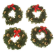 Mini Lit Wreath Set, One Size