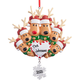 Personalized Reindeer Family Ornament, One Size