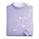 Embroidered Cascading Snowflakes Sweatshirt, One Size