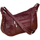 Burgundy Patch Leather Handbag, One Size