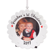 Personalized Grandma's First Christmas Frame Ornament, One Size