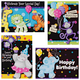 Kids Birthday Cards Set/12, One Size