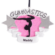 Personalized Gymnastics Ornament, One Size