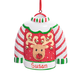 Personalized Ugly Sweater Ornament, One Size