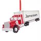 Personalized Semi Truck Ornament, One Size