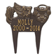 Personalized Angel Dog Pet Memorial Marker, One Size