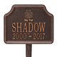 Personalized My Pal Dog Paw Memorial Marker, One Size