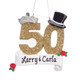 Personalized 50th Anniversary Ornament, One Size