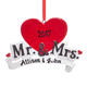 Personalized Mr. & Mrs. Ornament, One Size