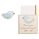 Chirps Find Your Song Magnetic Note Holder, One Size