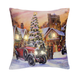 LED Holiday Printed Throw Pillow, One Size