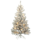 4' Pre-Lit Color-Changing Silver Tinsel Tree by Holiday Peak, One Size