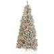 6' Pre-Lit Color-Changing Silver Tinsel Tree by Holiday Peak, One Size