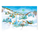 Peaceful Village Non-Personalized Christmas Card set of 20, One Size