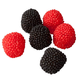 Red and Black Berries, 10.5 oz., One Size