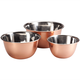 Stainless Steel Copper Mixing Bowls Set of 3, One Size