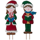 Metal Garden Girl and Boy Carolers by Maple Lane Creations™, One Size