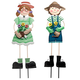 Metal Garden Girl and Boy by Maple Lane Creations™, One Size