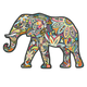 Elephant Shaped Puzzle 370 Pieces, One Size