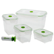 Seal'In 9pc Nestable Storage Containers, One Size