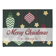 Personalized Merry Christmas Ornaments Doormat, One Size