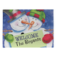 Personalized Welcome Snowcouple Doormat, One Size