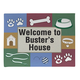 Personalized Dog Welcome Doormat, One Size