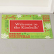 Personalized Holiday Greetings Doormat