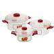 Microwave Pots with Apple Design, 6 Piece Set, One Size