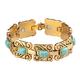 Goldtone Magnetic Turquoise Bracelet, One Size