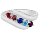 Birthstone Crystals Bypass Ring, One Size