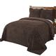 Rio Chenille Bedspread - Chocolate, One Size