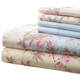 Hotel 5th Ave 90gsm Microfiber Sheet Set - Blue Floral, One Size